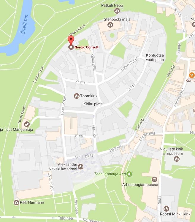 Nordic Consult map